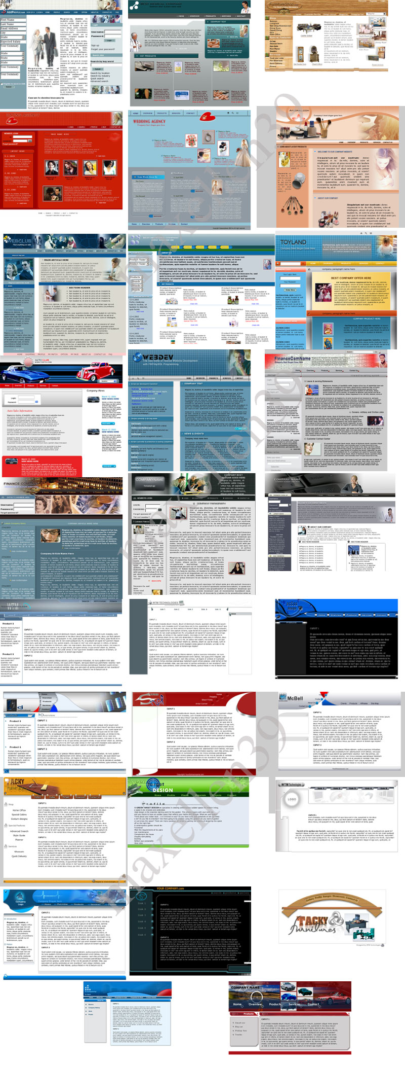 30 PSD - HTML Templates Paket