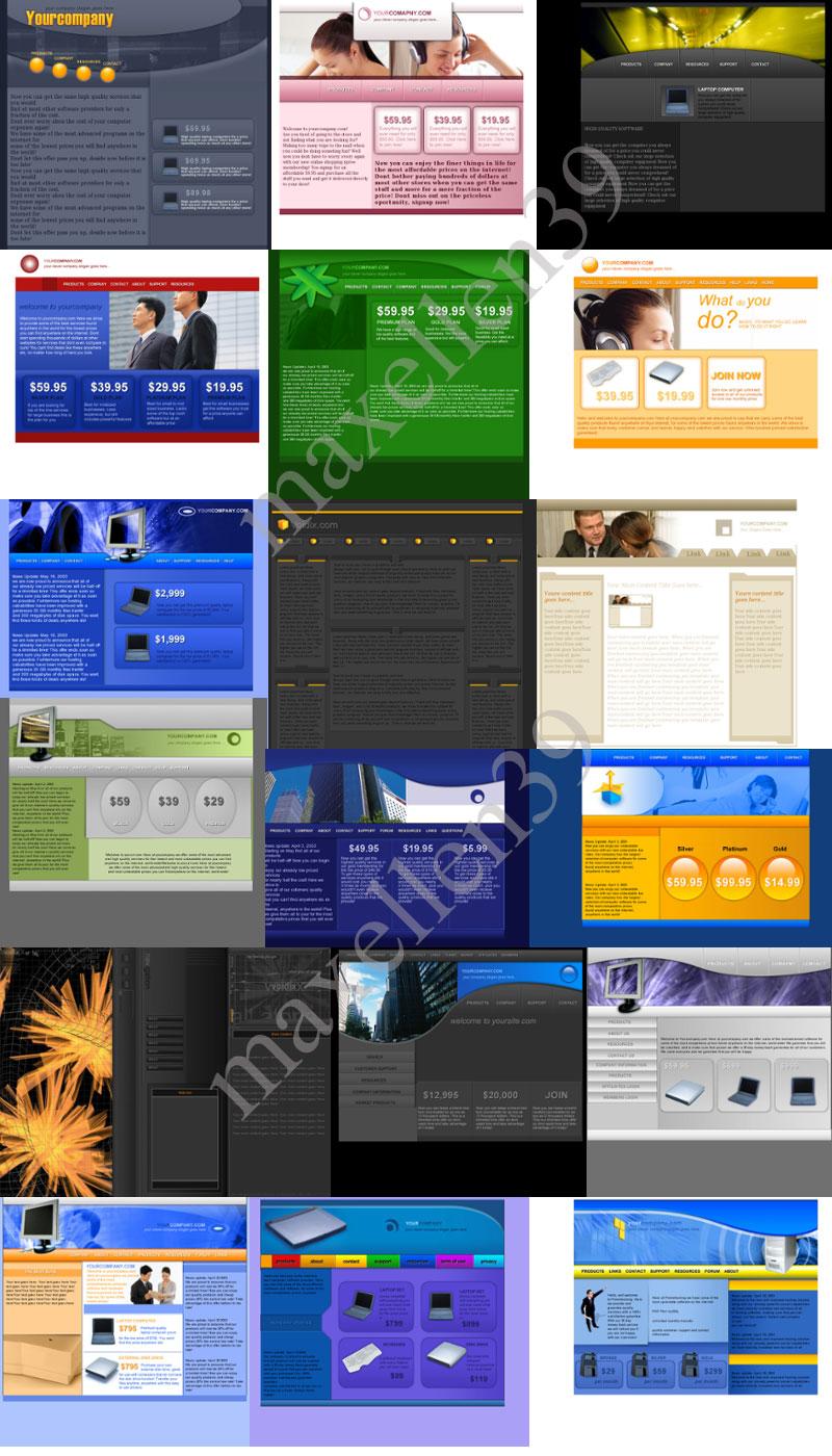 21 PSD - HTML Templates Paket