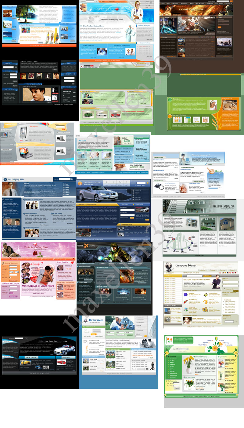 22 PSD - HTML Templates Paket