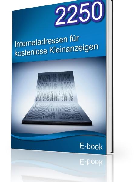 EBook 2250 Internetadressen für kostenlose Anzeigen Homepage publizieren