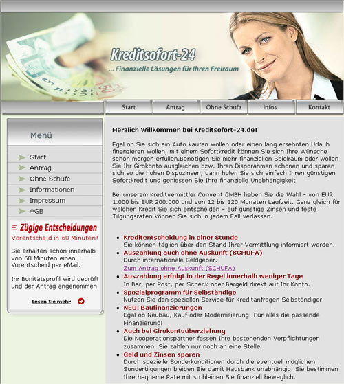 Schlüsselfertiges Kreditportal