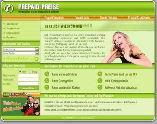 PHP Prepaidkartenvergleich Script | Geld mit Partnerprogramme | Affiliate Script