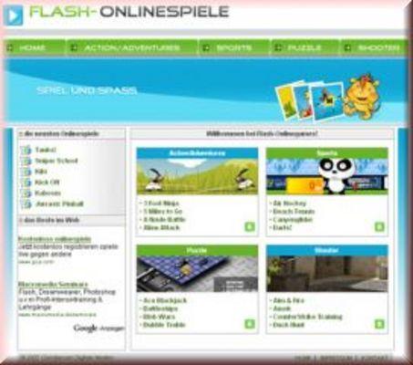 PHP Flashspiele - Seite mit 50 Onlinegames Script | Spiele | Google Adsense