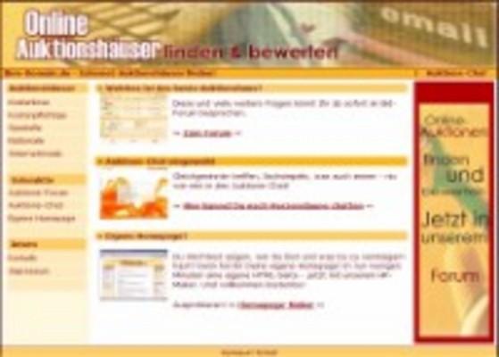 Webprojekt Auktionsverzeichnis Portal | Geld Verdienen
