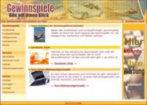 Webprojekt Gewinnspielverzeichnis Portal | Geld Verdienen