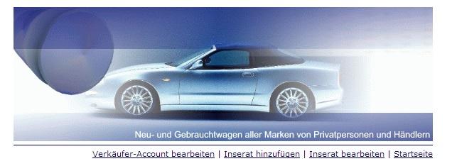 Webprojekt Kfz-Börse Webseite | Portal | Geld Verdienen