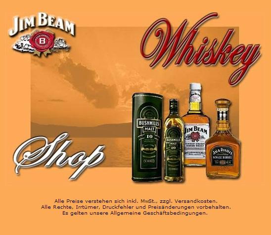 Webprojekt Whiskey Shop | Webseite | Portal | Geld Verdienen