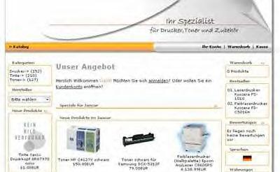 Webprojekt Drucker Shop | Webseite | Portal | Geld Verdienen