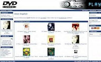 Webprojekt DVD Shop | Webseite | Portal | Geld Verdienen