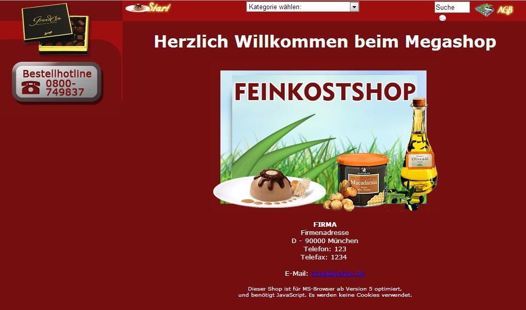 Webprojekt Feinkost Shop | Webseite | Portal | Geld Verdienen