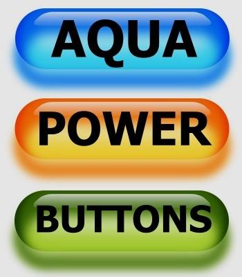 Aqua Power Buttons für Ihre Webseiten