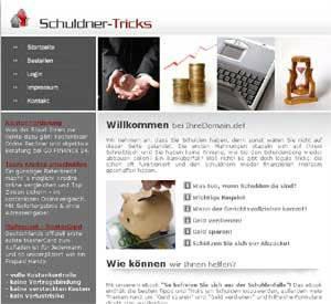 Schuldner Tipps Projekt Homepage Script