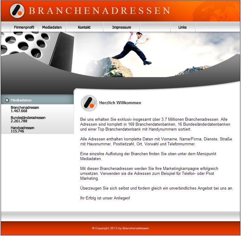 Branchenadressen Portal I Homepage Script