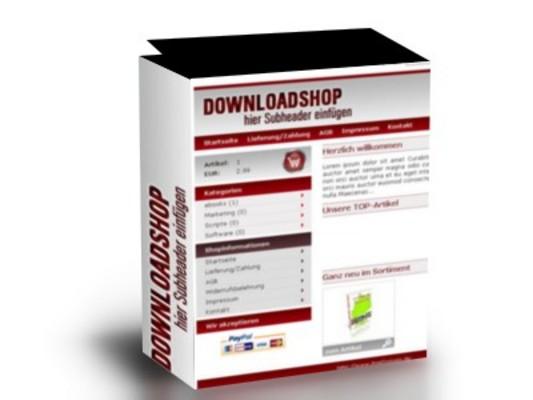 Professioneller PHP Downloadshop mit PayPal Zahlungsmodul und 46 Produkten dazu