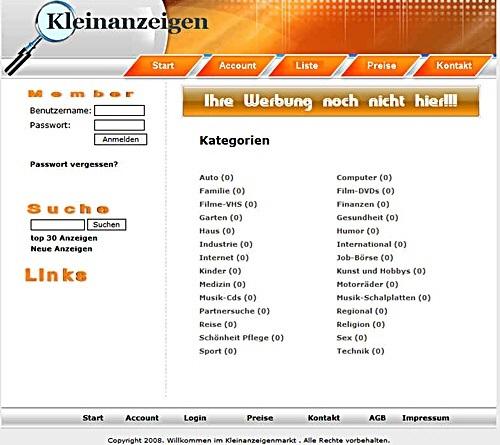 Webprojekt- Kleinanzeigenmarkt -Portal