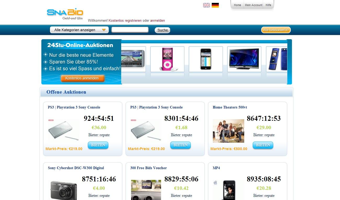 Auktionshaus Pay BID Pack System PHP Auktion Shop Script Anzeigenmarkt