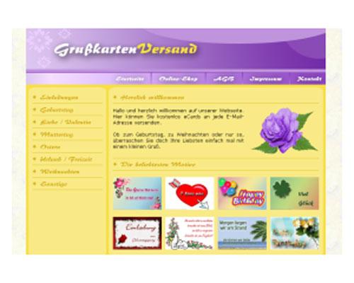 Grußkartenversand Script | Webseite | Portal | Geld Verdienen