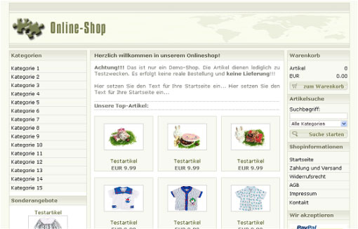 Ihr eigener Online Shop - verkaufen Sie Ihre Produkte