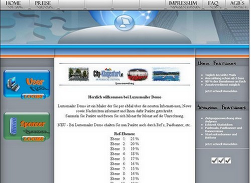 Paidmail Bonus Script - PHP Luxusmailer 3.1 PaidMail-Portal | Domains | Werbung