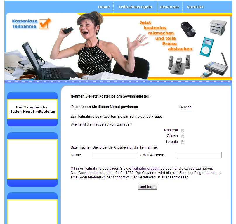 PHP Gewinnspiel Script - Newsletter Anbindung Script | Umsätze Erhöhen | Layer
