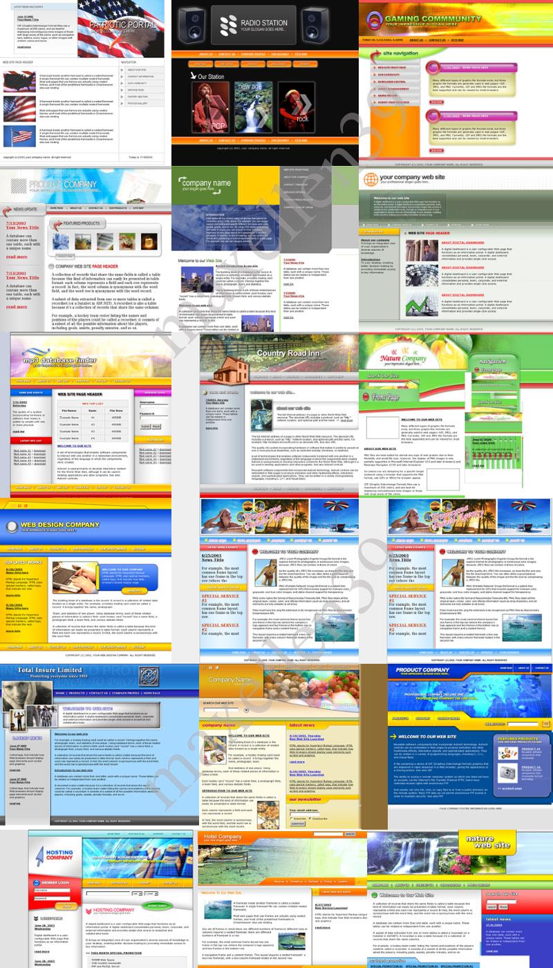 23 PSD - HTML Templates Paket