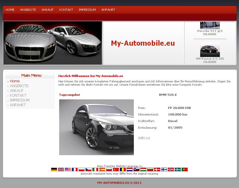 KFZ Profi Homepage für Gebraucht - Fahrzeuge Handel