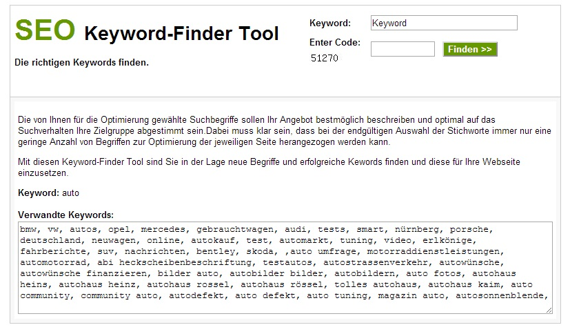 SEO Keyword - Finder Tool Script Besucher Magnet