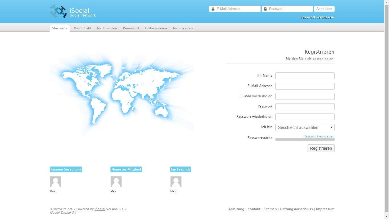 Social-Network- und Community Script