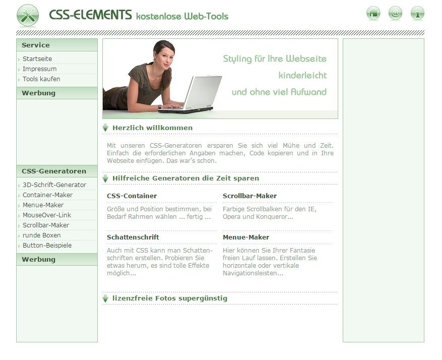 PHP-CSS-Content-Projekt Verdienst Script