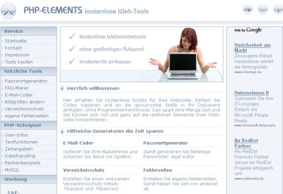 PHP-Content-Projekt Verdienst Script