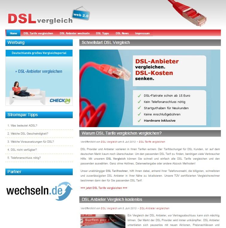 PHP DSL Vergleichsportal Script