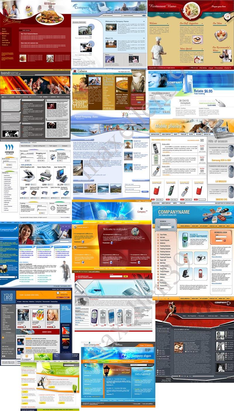 29 PSD - HTML Templates Paket