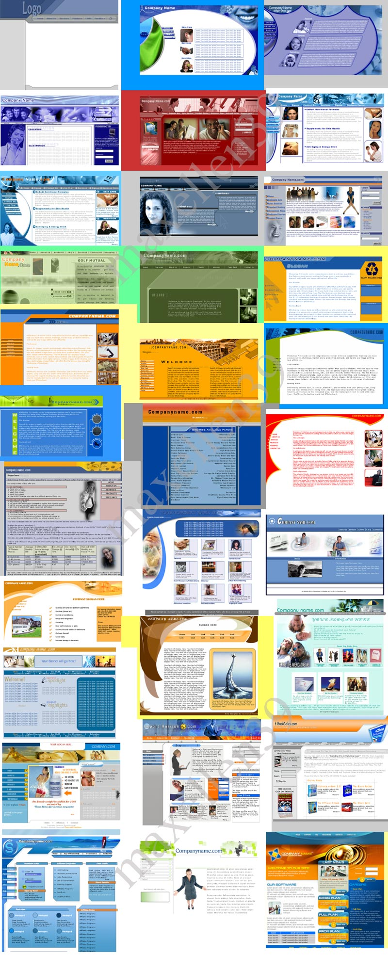 43 PSD - HTML Templates Paket