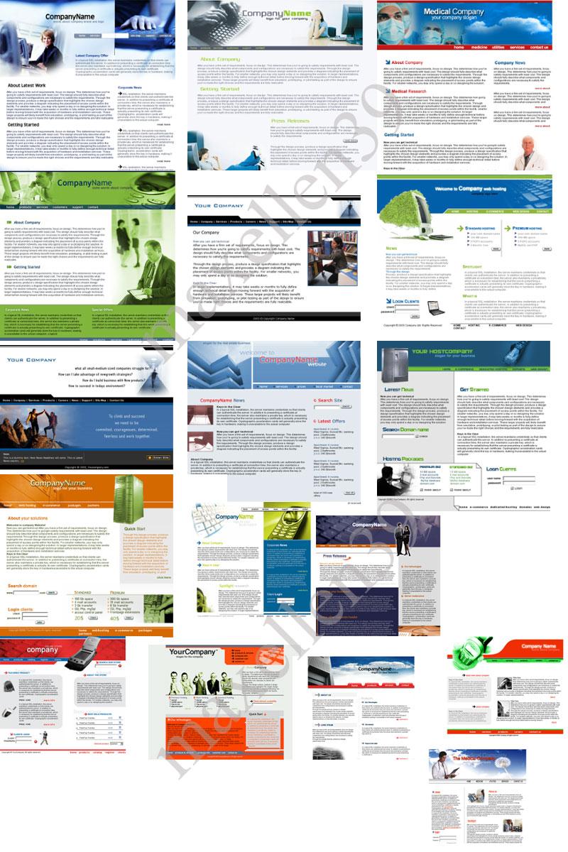 45 PSD - HTML Templates Paket