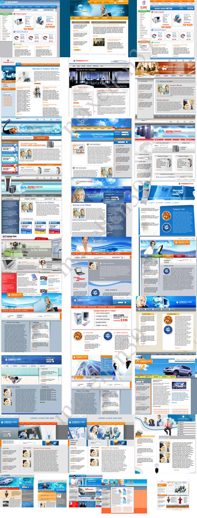 50 PSD - HTML Templates Paket