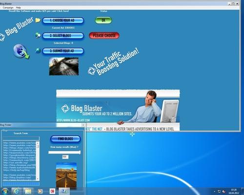Blog Blaster Power - Anzeige auf 2 Millionen Webseiten