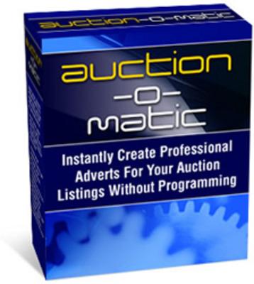 Eigene Auktionsvorlagen erstellen mit Auction-O-Matic